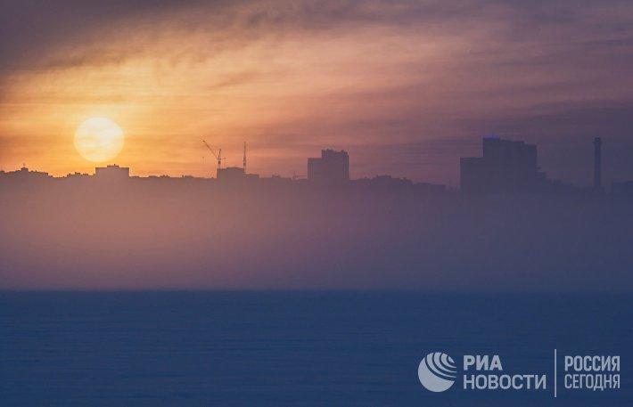 Туман в Петрозаводске