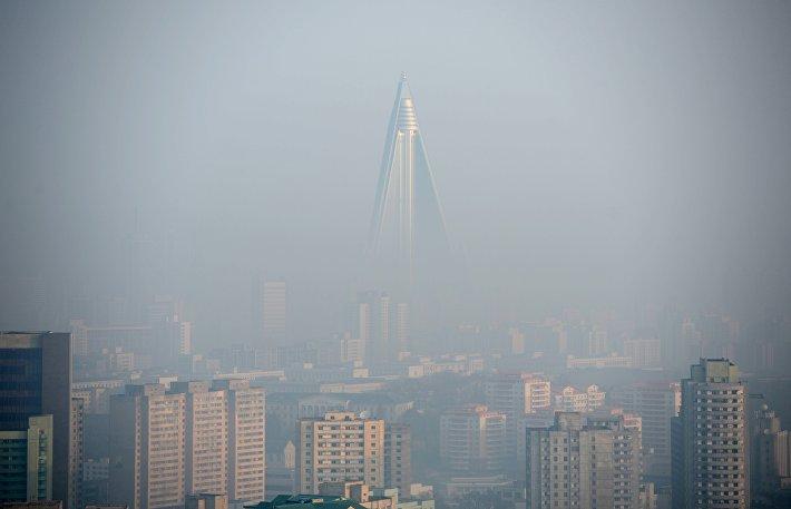 """Отель """"Рюгён"""" в Пхеньяне (Северная Корея)"""