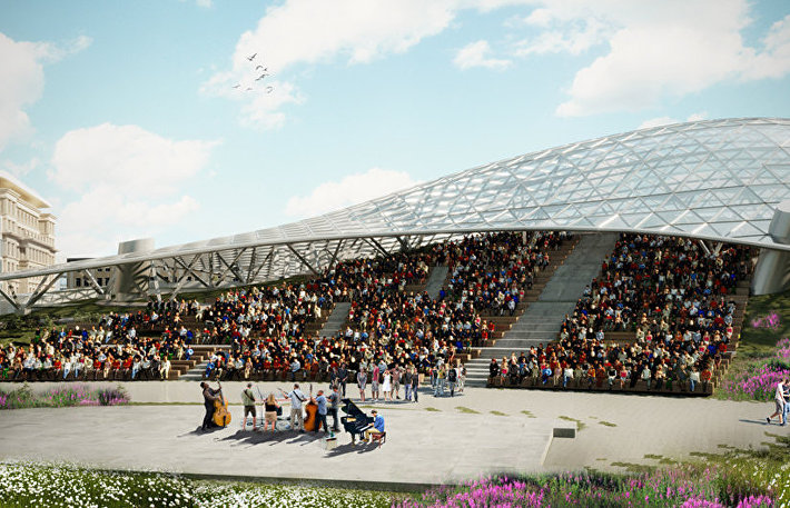 Проект амфитеатра в парке Зарядье