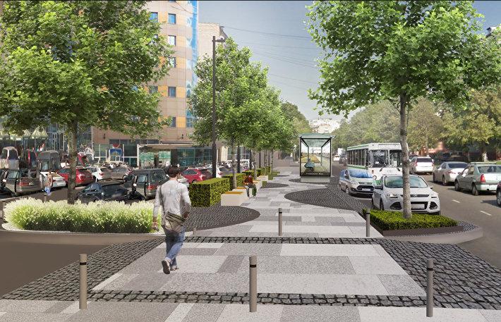 Проект пешеходных пространств в Балашихе