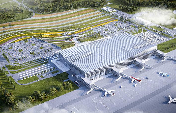 Концепция привокзальной площади нового терминала Международного аэропорта Симферополь
