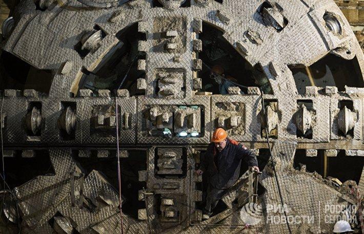 Строительство станции московского метрополитена Нижняя Масловка