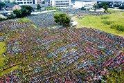 Свалка велосипедов в Китае