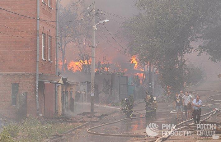 Пожар в Ростове-на-Дону