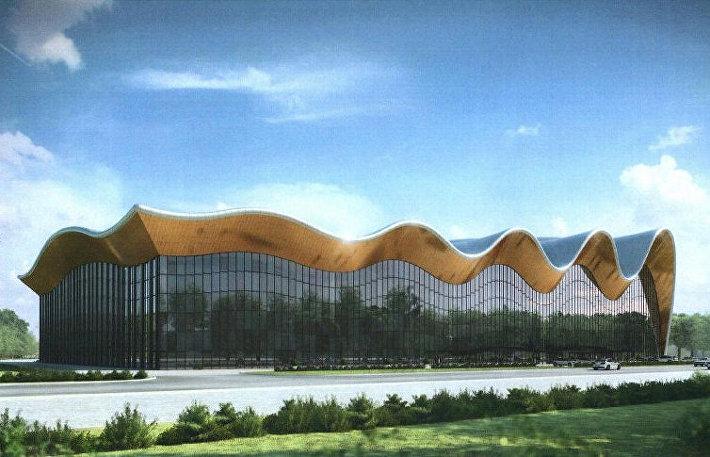 Проект Центра художественной гимнастики на территории Олимпийского комплекса Лужники