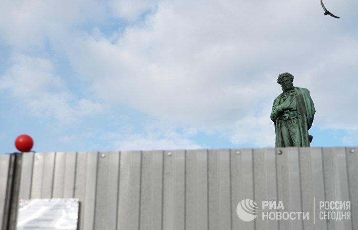 Реставрация памятника А.С. Пушкину началась в Москве
