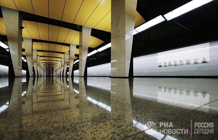 Платформа станции Шелепиха Третьего пересадочного контура Московского метрополитена